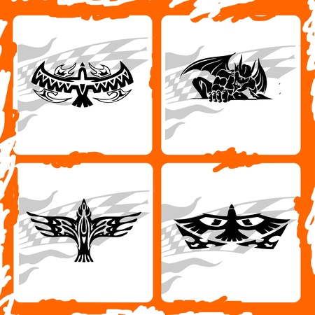 condor: Trucks Graphics.Vector illustration ready for vinyl cutting.