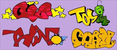 Graffiti Words.Vector illustration ready for vinyl cutting. Vector