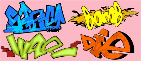 Graffiti Words.Vector illustration ready for vinyl cutting. Stock Vector - 8759115