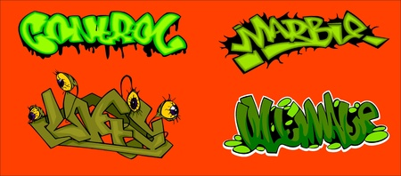 Graffiti Words.Vector illustration ready for vinyl cutting. Vector
