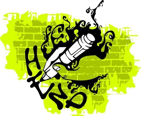 Graffiti - Pen and Hend.Vector Illustration. Vinyl-Ready. Vector