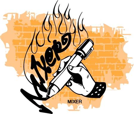 Graffiti - Hand end Marker.Vector Illustration. Vinyl-Ready. Vector