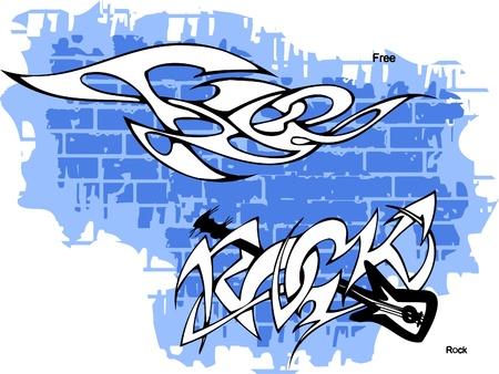 Graffiti -Vector Illustration. Vinyl-Ready. Vector