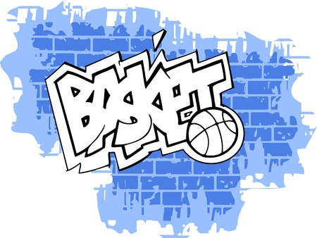Graffiti -Basket end Sport.Vector Illustration. Vinyl-Ready. Vector
