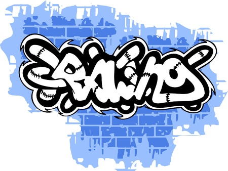 Graffiti -Inscription  end Wall.Vector Illustration. Vinyl-Ready. Vector