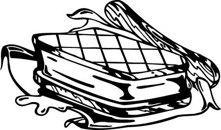 Sandwich.FastFood.Vector illustration ready for vinyl cutting. Stock Vector - 8758427