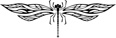 vinyl cutting: Dragonfly.Vector illustration ready for vinyl cutting.