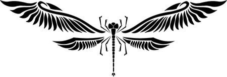 Dragonfly.Vector illustration ready for vinyl cutting. Vector