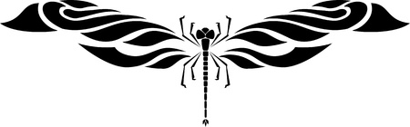 dragonfly wing: Dragonfly.Vector illustration ready for vinyl cutting.