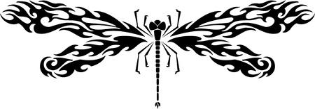 Dragonfly.Vector illustration ready for vinyl cutting. Vector