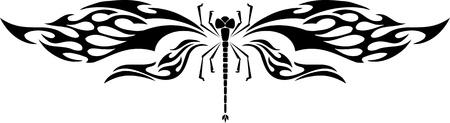 Dragonfly.Vector illustration prête pour la découpe de vinyle.