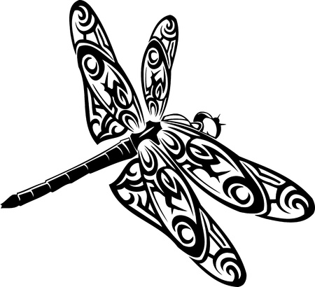 Dragonfly.Vector illustration ready for vinyl cutting.