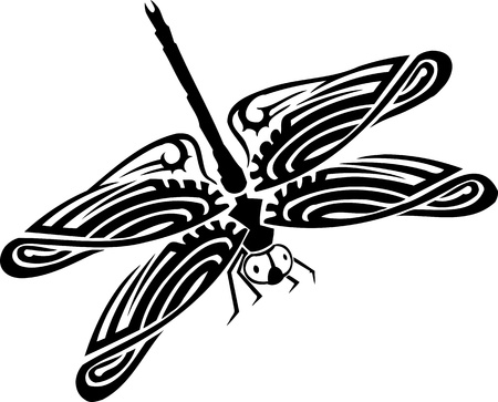 Dragonfly.Vector illustration ready for vinyl cutting.