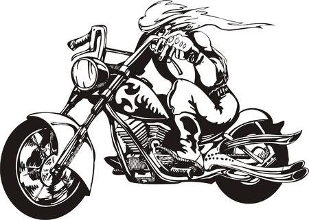 saddle: Crazy Biker. Vector Illustration.