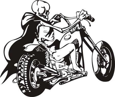 Biker on Motorcycle. Vector Illustration. Stock Vector - 8777457