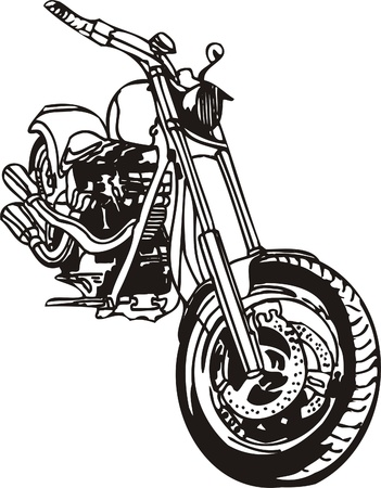 participate: Harley. Vector Illustration.