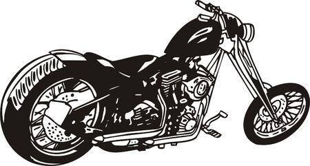silueta moto: Harley. Ilustraci�n vectorial.  Vectores
