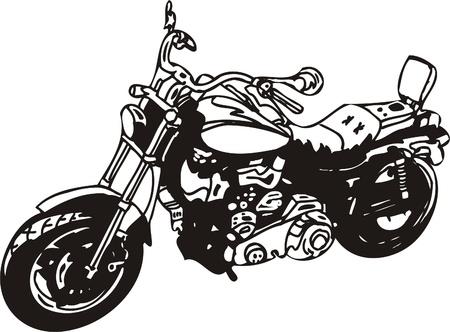 saddle: Harley. Vector Illustration.