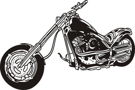 Harley. Illustration vectorielle.