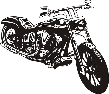 chopper: Harley. Vector Illustration.