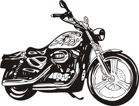 motorcycle: Harley. Vector Illustration.