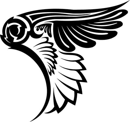 silueta de angel: Ilustraci�n Wings.vector listo para corte de vinilo.