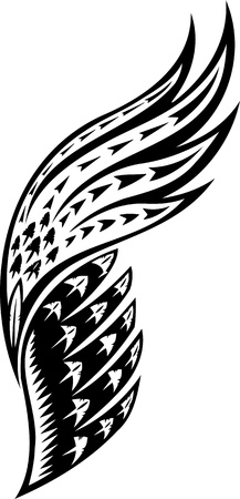 wings grunge: Wings.Vector illustration ready for vinyl cutting.