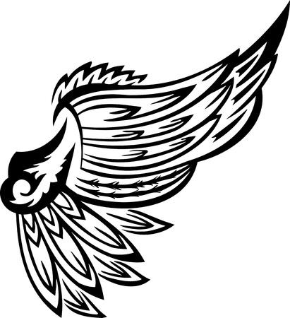 engel tattoo: Wings.Vector Illustration bereit f?r Vinyl schneiden.