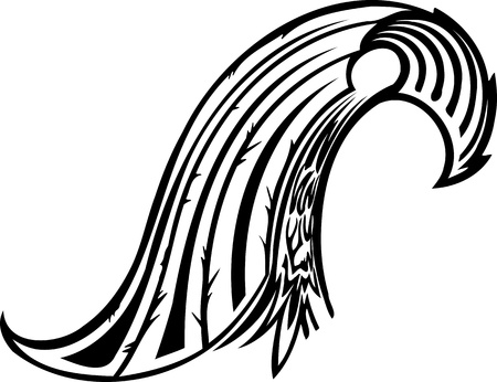 vinyl cutting: Wings.Vector illustration ready for vinyl cutting.