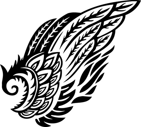 Wings.Vector illustration ready for vinyl cutting. Stock Vector - 8777422