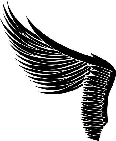 tatouage ange: Illustration Wings.Vector est pr�te pour la d�coupe de vinyle.