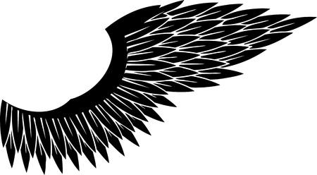 Wings.vector afbeelding klaar voor vinyl snijden.