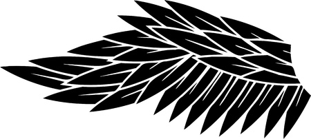 Wings.Vector illustration ready for vinyl cutting. Vector