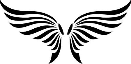 hawks: Illustrazione Wings.Vector pronto per il taglio di vinile.