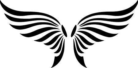 adler silhouette: Wings.Vector Illustration f�r Vinyl-Cuttings bereit.