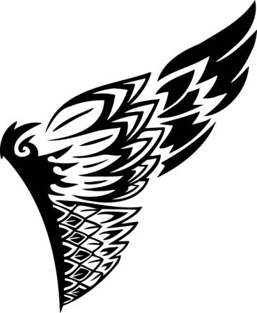 Wings.Vector illustration ready for vinyl cutting. Stock Vector - 8777445