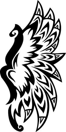 artificial wing: Illustrazione di Wings.Vector pronti per il taglio di vinile.