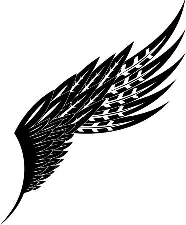 artificial wing: Illustrazione Wings.Vector pronto per il taglio di vinile.
