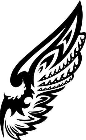 Wings.Vector illustration ready for vinyl cutting. Stock Vector - 8777247