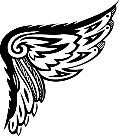 wings icon: Wings.Vector illustration ready for vinyl cutting.