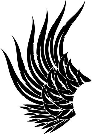 milagros: Ilustraci�n de Wings.vector listo para corte de vinilo. Vectores