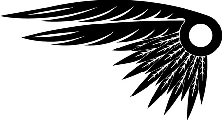 eagle feather: Wings.Vector illustration ready for vinyl cutting.