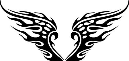 engel tattoo: Wings.Vector Illustration bereit f�r den Werbetechniker.