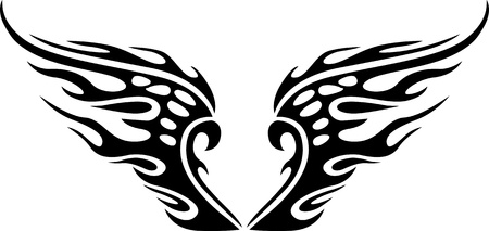 Wings.Vector illustration ready for vinyl cutting. Stock Vector - 8777344