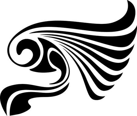 wings isolated: Wings.Vector illustration ready for vinyl cutting.
