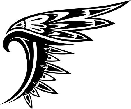 Wings.Vector illustratie klaar voor vinyl snijden.