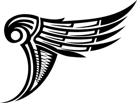 eagle wings: Wings.Vector illustration ready for vinyl cutting.