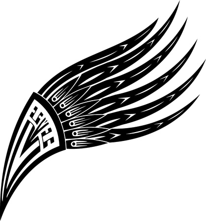 heraldic eagle: Wings.Vector illustration ready for vinyl cutting.