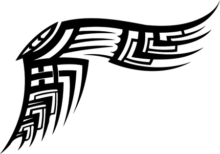 tattoo wings: Wings.Vector illustration ready for vinyl cutting.