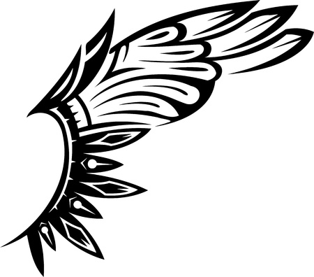 Wings.Vector illustration ready for vinyl cutting.